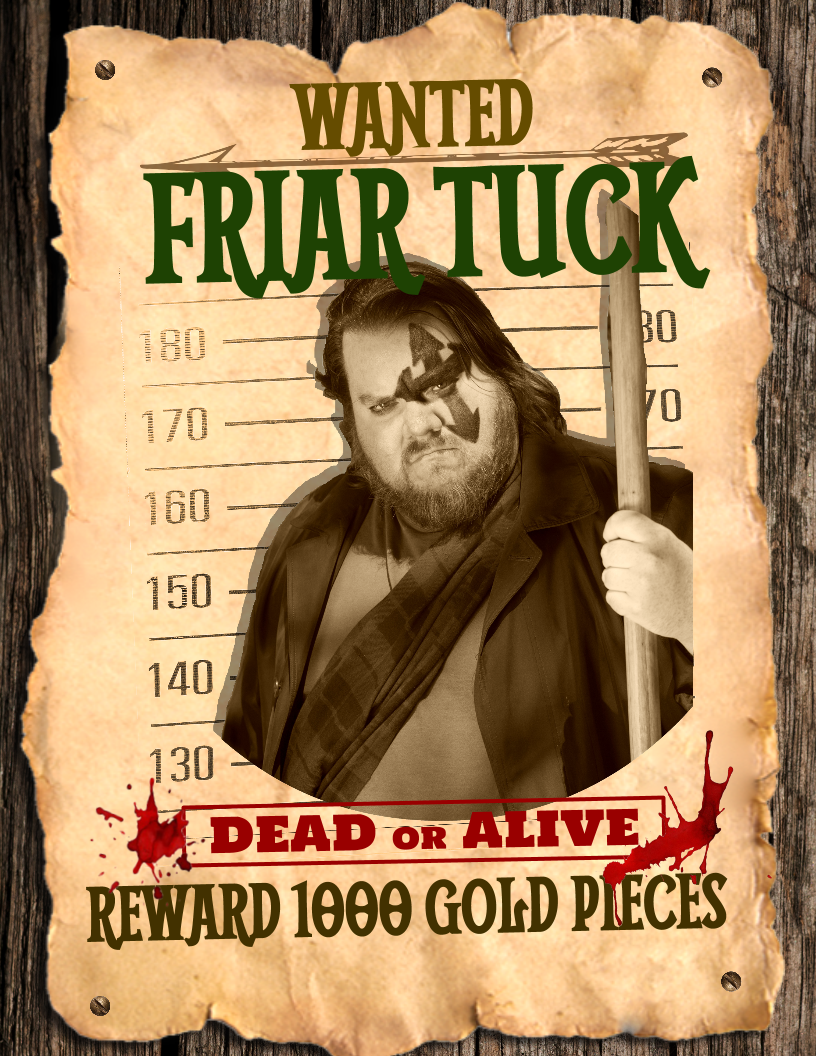 Friar Tuck Wanted Poster Concept – 2 (2)